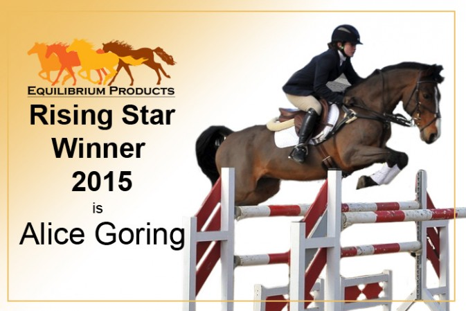 Alice Goring is Equilibrium Products' Rising Star 2015