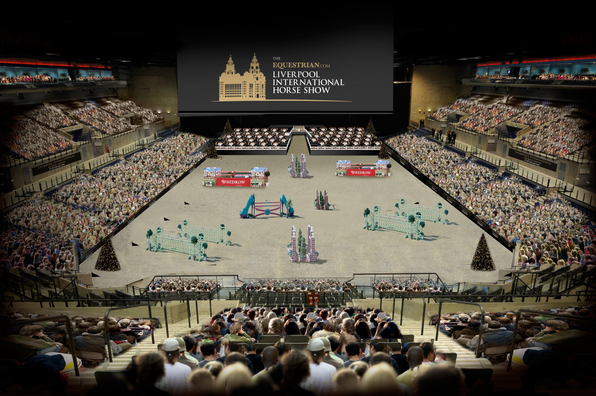 Arena - Equestrian.com Headline Sponsor at Liverpool International CSI**** Horse Show