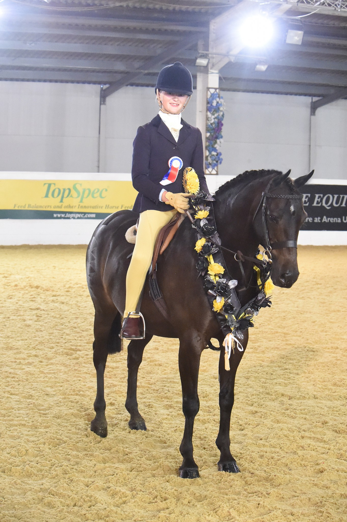 Lucille Bywater and Westfirle Mr Mcgregor - Lucille is Rider of the Year at BSPS Summer Championships