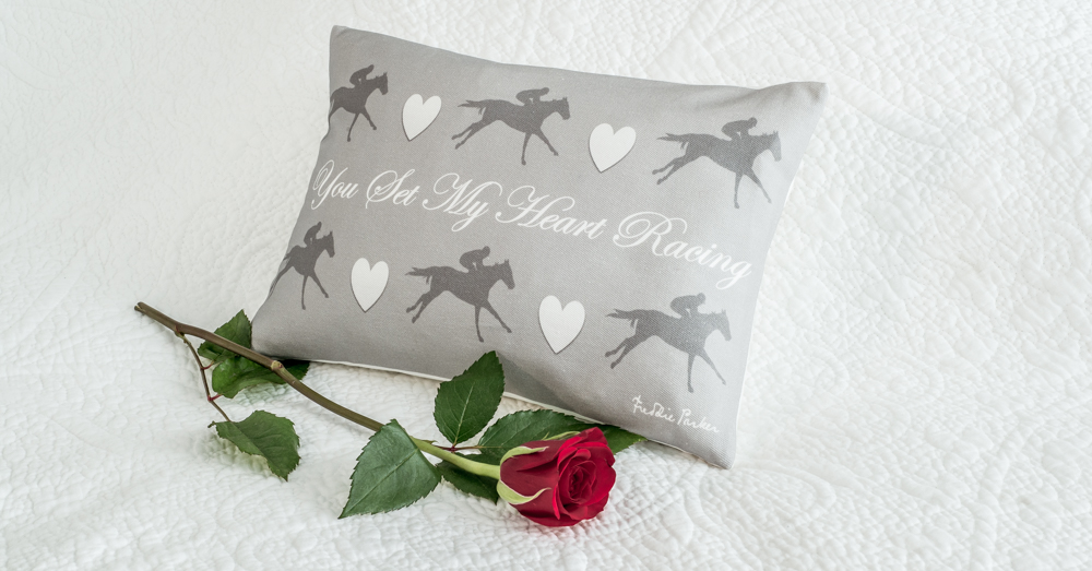Freddie Parker You Set My Heart Racing Cushion - Fall In Love With Freddie!