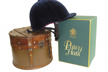 Patey Protector white BG 436x291 - 'The Queen's Hatmaker' Patey Hats and PROtector Helmets Merge