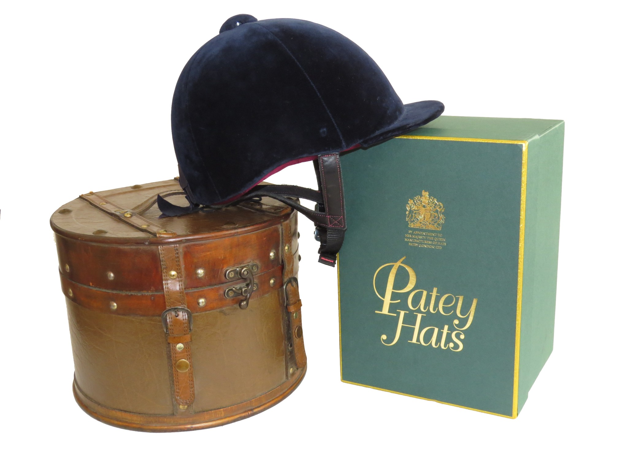 Patey Protector white BG - 'The Queen's Hatmaker' Patey Hats and PROtector Helmets Merge