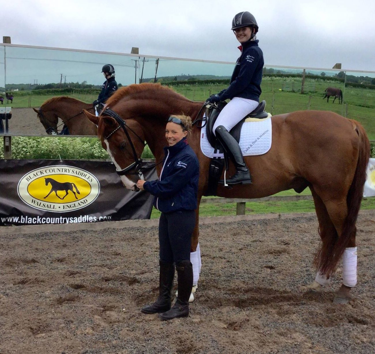 Sophie and Izzy e1465563835187 - TV Debut for Young Dressage Rider