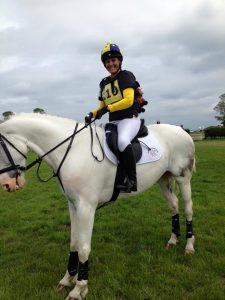 Lorraine Bingham representing ADRC 225x300 - Ackworth at Area 4 with Willberry Wonder Pony.