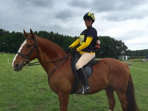 Sheila Rogerson on Rusty ADRC chairwoman 300x225 - Ackworth at Area 4 with Willberry Wonder Pony.