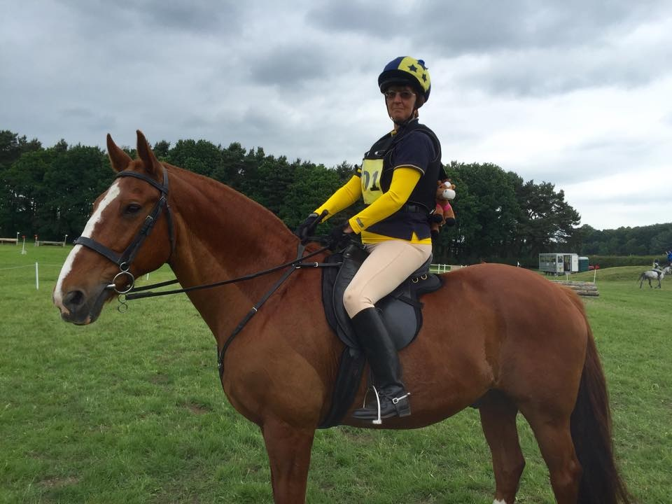 Sheila Rogerson on Rusty ADRC chairwoman - Ackworth at Area 4 with Willberry Wonder Pony.