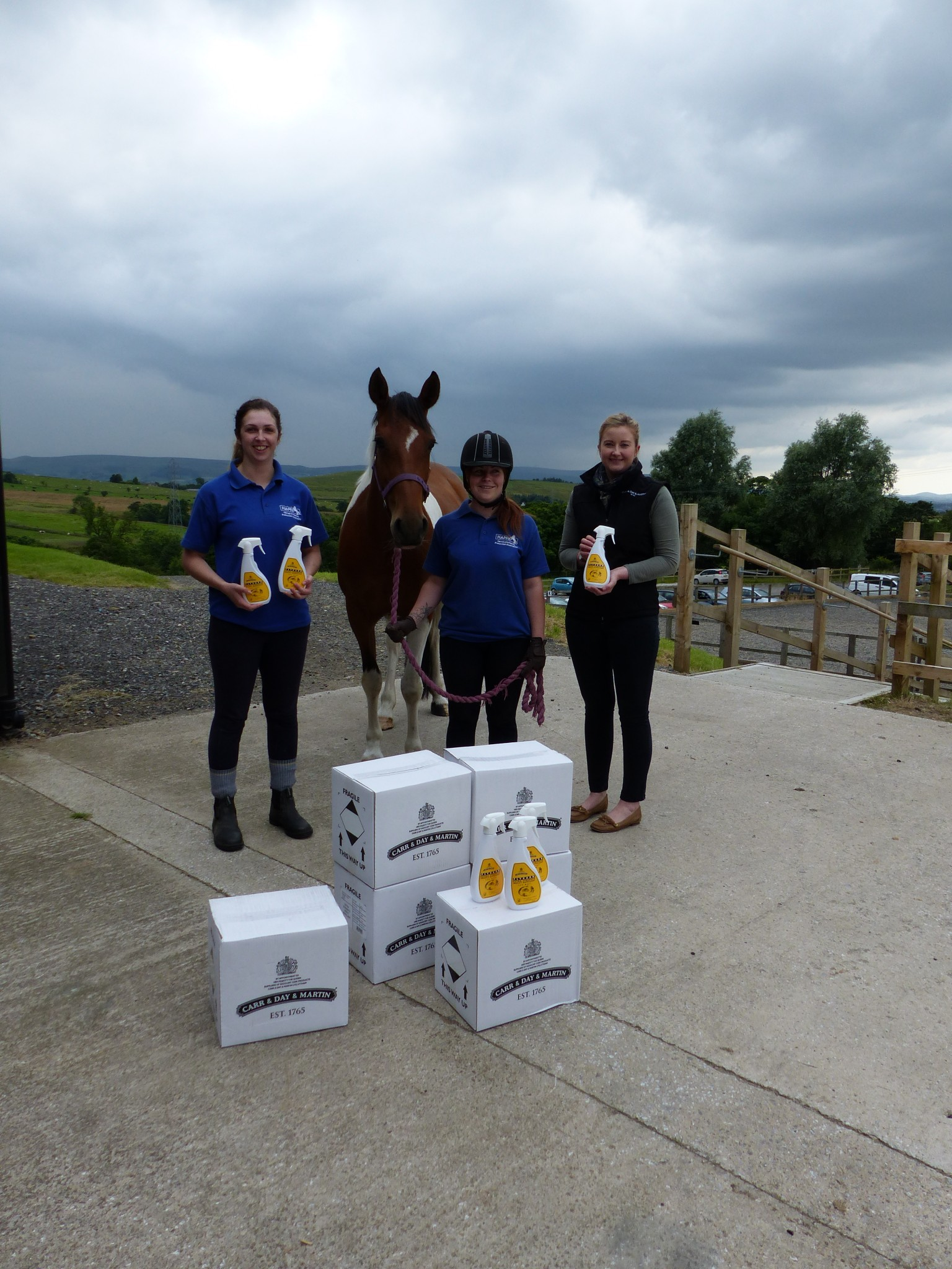 HAPPA - Carr & Day & Martin donates fly repellent spray to World Horse Welfare and HAPPA