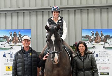 Carl Hester Charlotte Dujardin and Valegro Nina Barbour at the launch 360x245 - Dressage Goes Global at This Year's Equerry Bolesworth International Horse Show