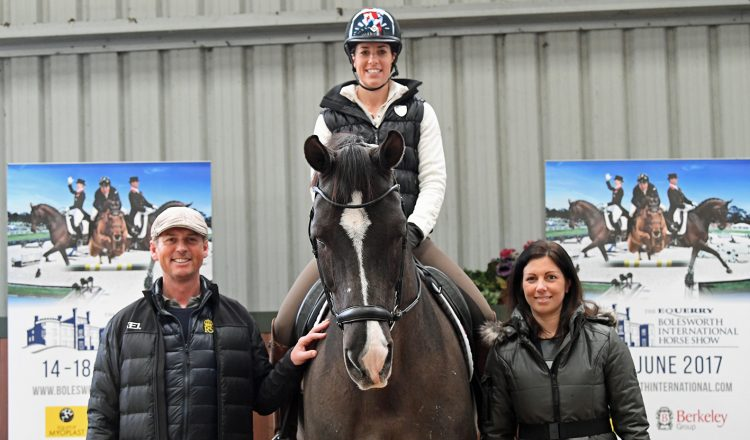 Carl Hester Charlotte Dujardin and Valegro Nina Barbour at the launch 750x440 - Dressage Goes Global at This Year's Equerry Bolesworth International Horse Show