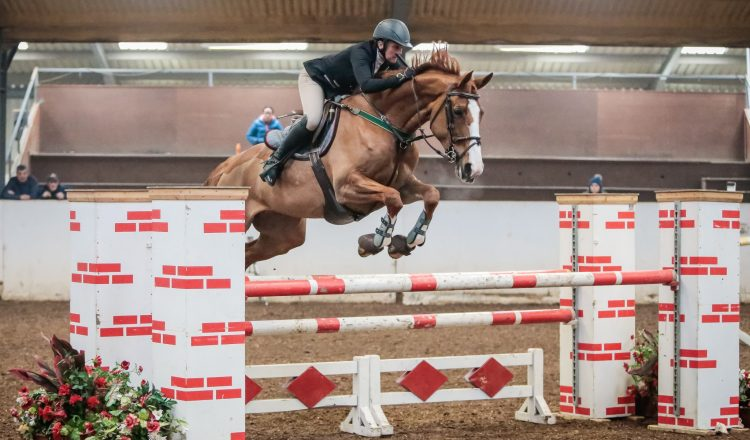 Sarah Winterbottom Katie I South View Equestrian Centre Credit Ciara Doone Rush Photography 750x440 - Derbyshire's Sarah Winterbottom Scoops SEIB Winter Novice Qualifier Win at SouthView Equestrian Centre