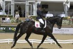 Amy Woodhead and MSJ Zonetta winning the five year old championship at Bolesworth 150x100 - Double Success for Dujardin at The Equerry Bolesworth International Horse Show
