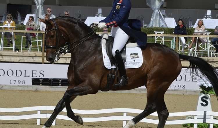 Charlotte Dujardin and Mount St John Freestyle in action at Bolesworth e1497552702791 750x440 - Double Success for Dujardin at The Equerry Bolesworth International Horse Show