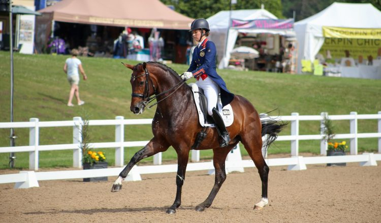 Charlotte Dujardin Mount St John Freestyle 2 1 750x440 - Dujardin does the double on a scorching second day at Hartpury Festival of Dressage