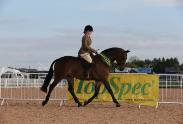 Megan Cookson and Louvaine Rooney 360x245 - Megan Captures TopSpec Supreme Pretty Polly Championship for Second Time