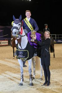 Matt Sampson takes the Equitop Myoplast Senior Foxhunter Championship