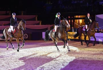 British riders Holly Smith and Helen Tredwell, plus Irish star Shane Breen – joint winners