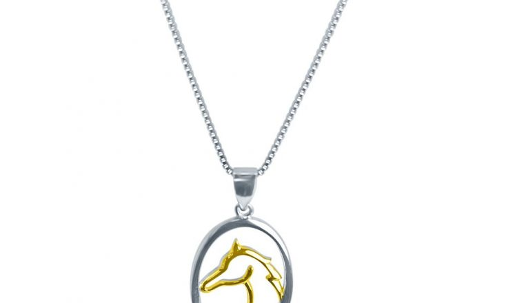 Horse Head Silhouette Pendant 750x440 - Contemporary, eye catching and sure to add an enviable equestrian flair to your outfit, the Horse Silhouette from Pegasus Jewellery.