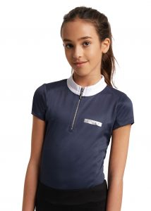 navy shirt main 214x300 - Aztec Diamond Equestrian launches Young Riders collection