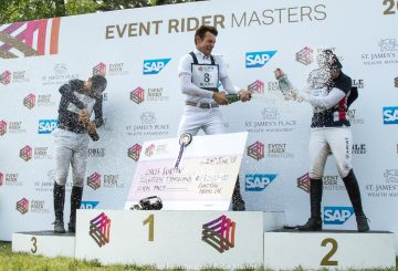 180624 ERM Arville WM Podium Spray Burton Collett Levett 1 360x245 - EVENT RIDER MASTERS (ERM) 2018 Leg 3 results from Concours Complet D'Arville