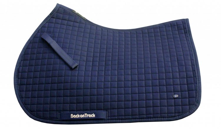 2138 Saddle Pad No.I Jumping Navy 750x440 - New Navy Saddle Pad No.1 From Back On Track®