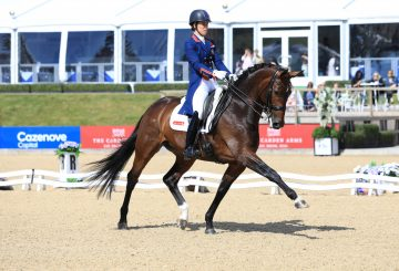 Charlotte Dujardin and Mount St John Freestyle in winning mode 360x245 - Six of the Best for Charlotte at Bolesworth