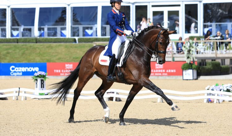 Charlotte Dujardin and Mount St John Freestyle in winning mode 750x440 - Six of the Best for Charlotte at Bolesworth