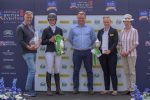 Lucy Wheeler receiving her prizes as winner of the TopSpec Challenge for The Corinthian Cup. 150x100 - Lucy and King Creole Head the TopSpec Challenge for The Corinthian Cup