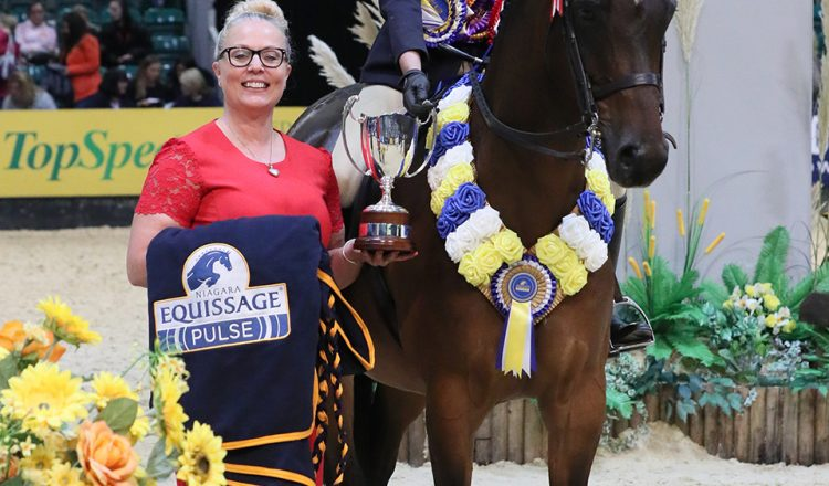 Class 27 Equissage Pulse Ridden Partbred Pony of the Year Championship Lucy Glover 750x440 - Five-year-old performs beyond his years to take Equissage Pulse Ridden Partbred Pony of the Year honours