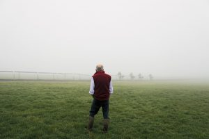 Sir Mark Prescott reviewing the performance of his horses on Warren Hill in early morning spring mist. 300x200 - EQUINE JOURNEYS ... by Hossein Amirsadeghi