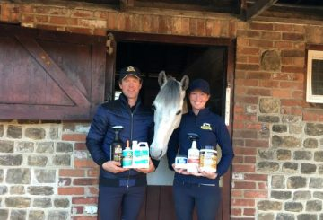 Emma and Kevin with Scuderia 1918 Humphrys  360x245 - Absorbine® Announces Sponsorship Renewal with McNab Eventing