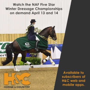 NAF Five Star Winter Dressage Champs April 2019 300x300 - Horse & Country TV Showcase NAF Five Star Winter Dressage Championships
