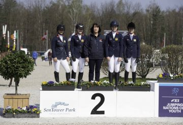 Team LeMieux L R Shaunie Greig Holly Truelove Chef dEquipe Clare Whitaker Megan Li Claudia Moore 360x245 - Team LeMieux finish second in opening Pony Nations Cup of 2019 at Opglabbeek
