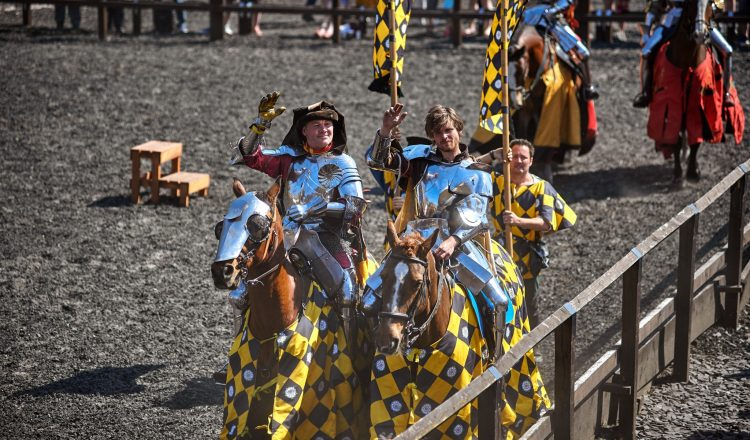 AYP 0009 Andy Deane UK and Mike Collin UK 750x440 - Royal Armouries  in Leeds hosts Jousting teams
