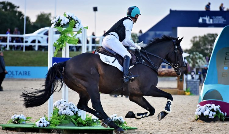 Andrew Hoy in the Eventers Grand Prix 750x440 - Leading Event Riders to Tackle Bolesworth Eventing Grand Prix