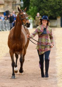 Eventer Katie Preston wears The Little Tweed Co. at Badminton Horse Trials trot up 2019 2. Image Nico Morgan 213x300 - Equestrian Life talks to Heather Oldfield, Founder of The Little Tweed Co.