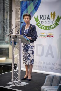 HRH The Princess Royal launched the tartan at an anniversary event held at the Peoples Postcode Lottery Office in Edinburgh. 200x300 - HRH Princess Anne Launches 50th Anniversary Tartan for Riding for the Disabled Association in Scotland