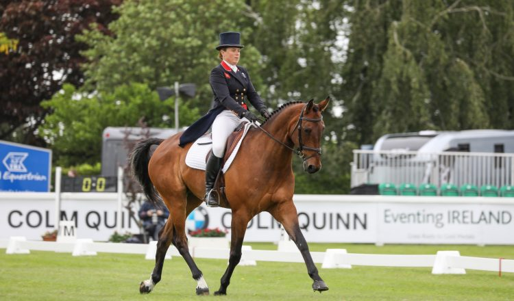 Pippa Funnell MGH Grafton Street leader after dressage The Irish Field CCI4 L Custom 750x440 - Tattersalls International Horse Trials is underway and Team GB legend Pippa Funnell leads the feature class after dressage phase
