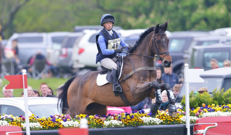 Ros Canter Riding Alister B at Badminton 2017 low 750x440 - Jumping at Home with Ros Canter