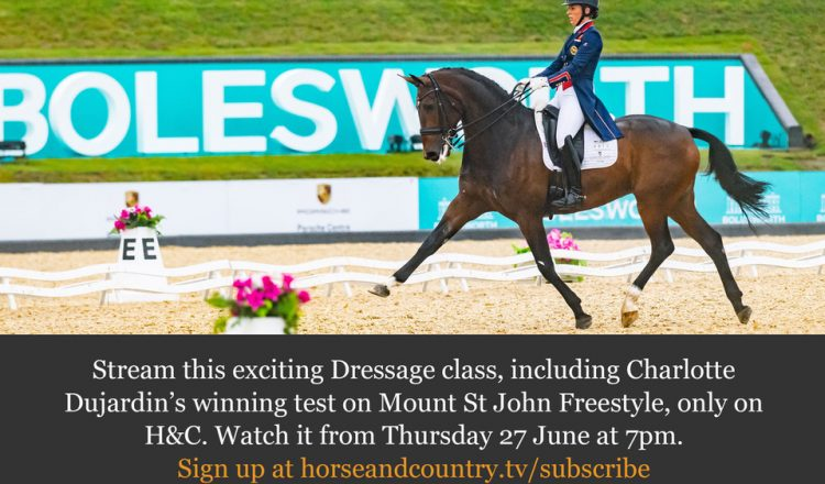 Bolesworth Dressage 2019 1 750x440 - Catch all the Action from the Equerry Bolesworth International Horse Show on Horse & Country
