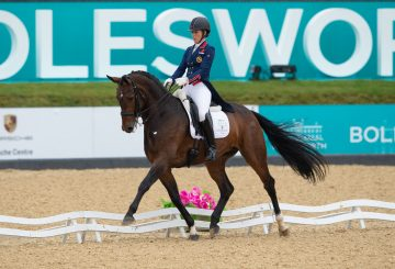 Charlotte winning the Theraplate Grand Prix Special 360x245 - Scintillating Dressage Double for Dujardin