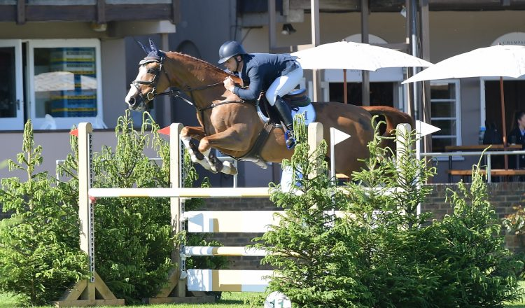 Joss Williams 750x440 - Leicestershire rider Joss Williams won the Clean Sheet 1.25m Open Championship at the Al Shira'aa Hickstead Derby Meeting on Friday.