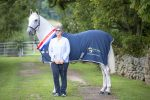 Clare Blaskey and Champion Hunter Greenhall Cecil Mole Valley low res 1 150x100 - Blue Chip Founder having Show Season to remember