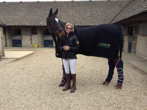 Verity and Kit at home 300x224 - Registered blind Dressage rider Verity Smith on her Olympic plans