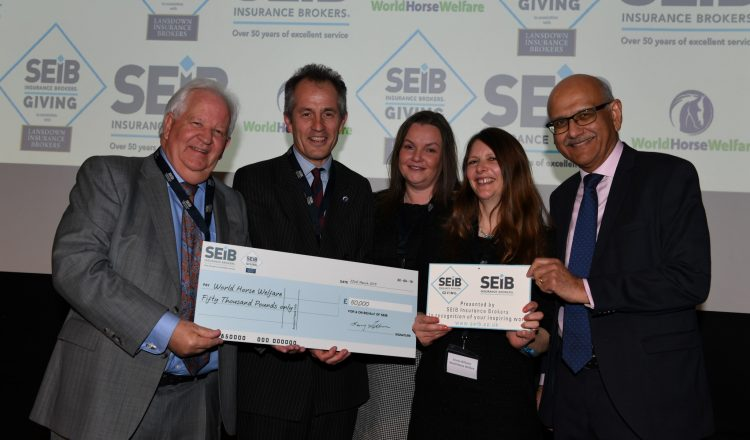 WHW L to R Barry Fehler Roly Owers Suzy Middleton Emma Williams Bipin Thaker Hi Res 750x440 - SEIB Insurance Brokers to grant £50,000 to good causes in 2020