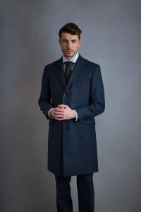Courtauld Coat in Oxford Blue2 200x300 - What To Wear On A First Date