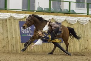 Mikayla Jade Trick Riding at at Atkinson Action Horses for Australia Event at Bishop Burton College Photo Credit E J Lazenby 300x201 - Bishop Burton College hosts equine fundraiser event for the Australian bushfires