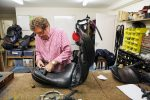 Maurice at the work bench 150x100 - Maurice Emtage – A Life in Saddlery