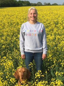 Socially Distant Sweater  225x300 - Colourful new slogan tops from Stitched Equestrian inject a little fun into socially distant living