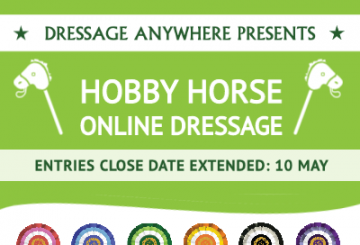 hobby horse extension 360x245 - Extended deadline for the Hobby Horse Online Dressage Competition!