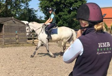 Riding lessons with Harriet Morris-Baumber